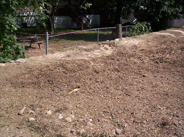 stump grinding sample project Manchester NH